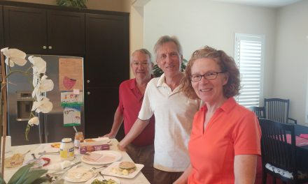 Visiting friends of  old – Mark and Elaine